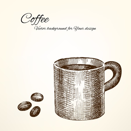 Vector coffee background for Your design Vector