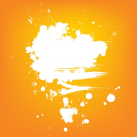 Abstract vector background. White contrast paint banner Vector