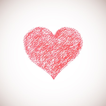 Hand drawn artistic heart. Vector pastel surface