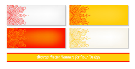 Vector set of decorative banners Vector