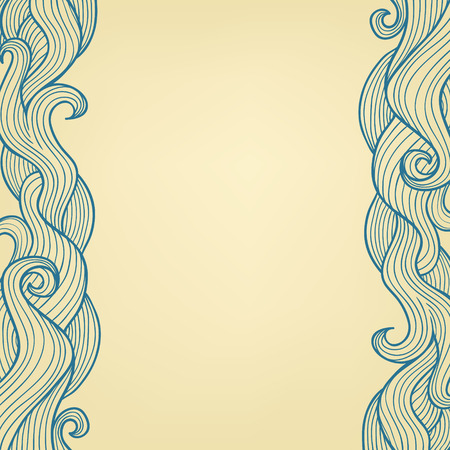 Abstract vector background with hand drawn doodle waves