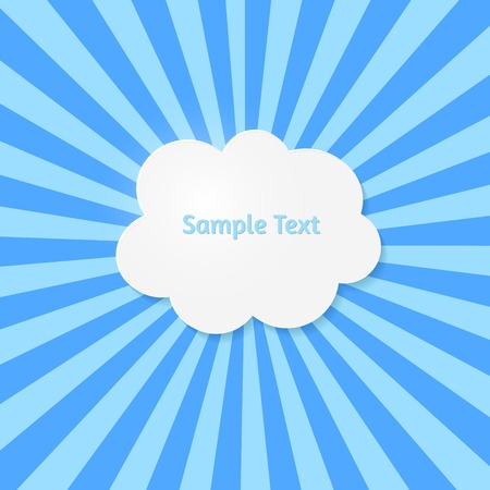 Abstract vector background. Stylized cloud Vector