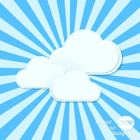 comp: Abstract vector background. Stylized clouds