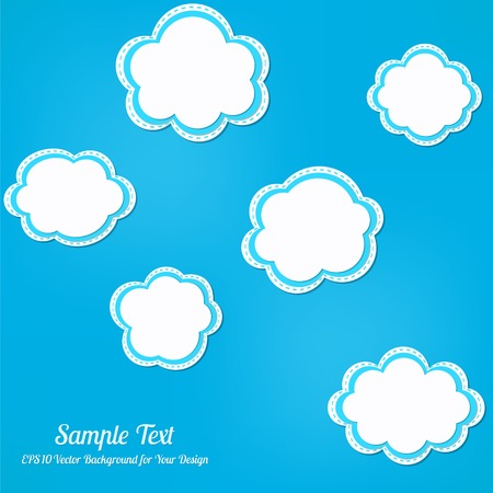 Abstract vector background. Stylized clouds Vector