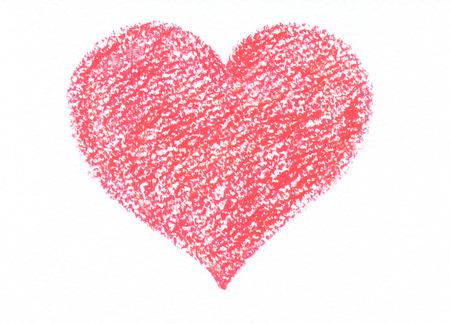 corny: Hand drawn pastel heart. Raster background