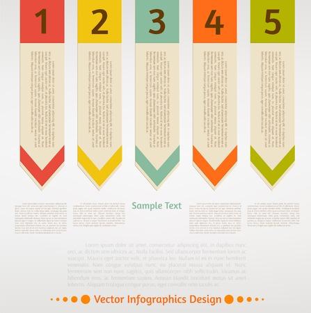 Vector infographic arrows set