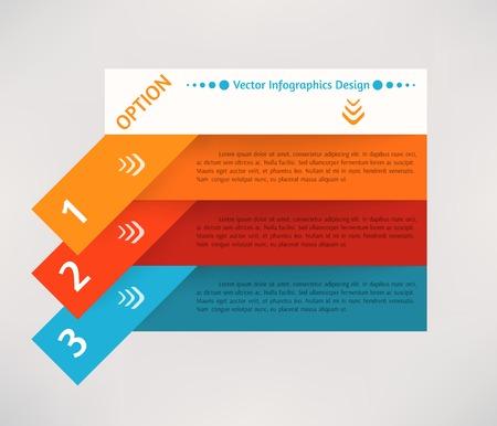 Vector flat infographics design background Vector