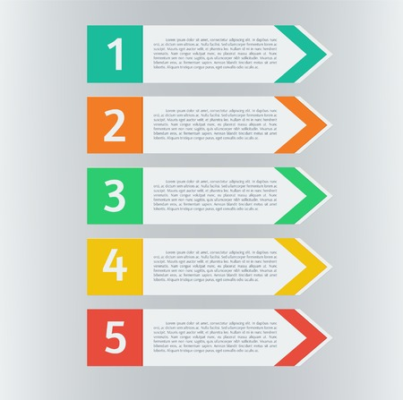 Vector infographic arrows set