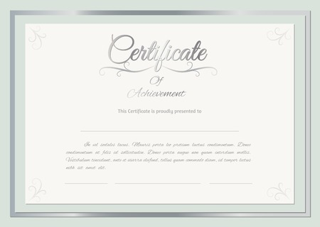Vector certificate background Vector