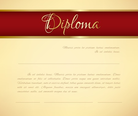 Vector diploma background Vector