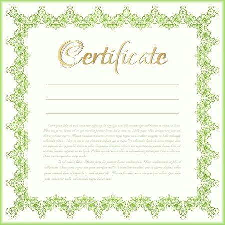 Vector certificate background Illustration