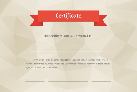 certificate background: Vector certificate background  Modern flat style
