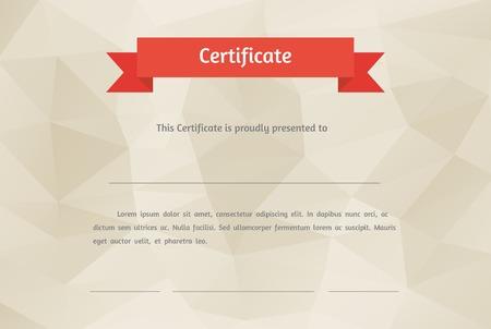 modern: Vector certificate background  Modern flat style