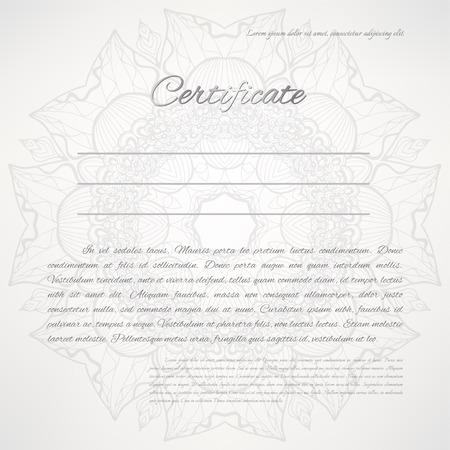 Vector Zertifikat Hintergrund Golden Floral Frame Lizenzfrei ...