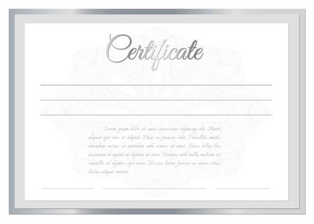 Vector certificate background Vector