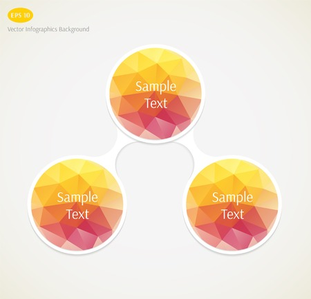 directing: Abstract vector infographics background Illustration