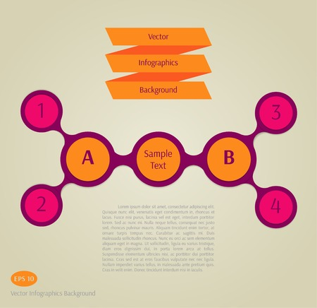 Abstract vector infographics background Illustration