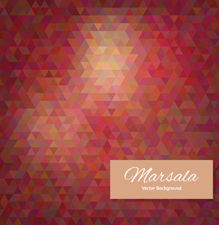 tints: Abstract vector polygonal background. Marsala tints, color of the 2015 year Illustration