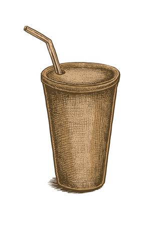 lata de refresco: Colorido mano del estilo de la vendimia dibuja lata de refresco. ilustraci�n vectorial Vectores