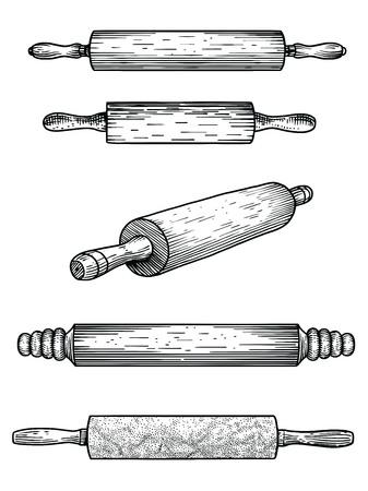 Perno di rotolamento, marmo, legno, silicone, pasticceria