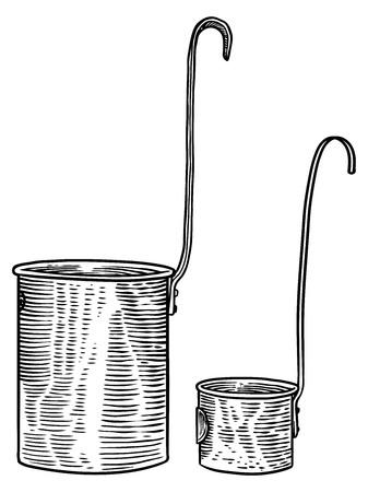 measuring cup: Measuring cup, cup, copper, metal, set, measure, vintage, retro, antique