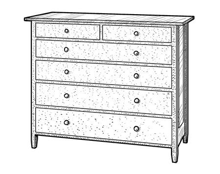 Wooden engraving illustration, engraving, ink, line art, vector