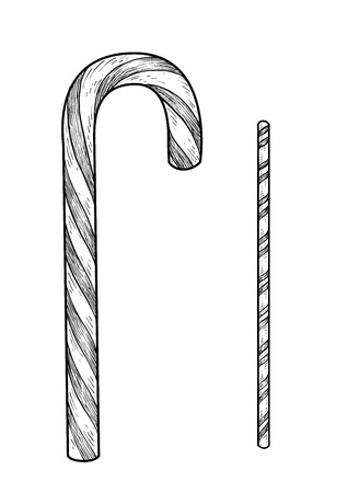 Illustration of engraving ink line art vector illustration