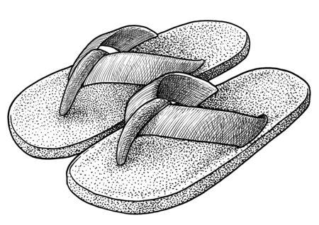 Home slipper on white Imagens - 134275981