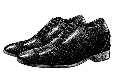 Man black shoe vector illustration Imagens - 147597656