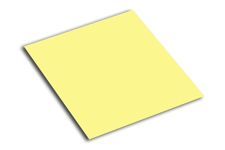 Yellow post-it note waiting for your message photo