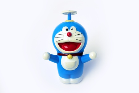 doraemon on white with clipping path Editorial
