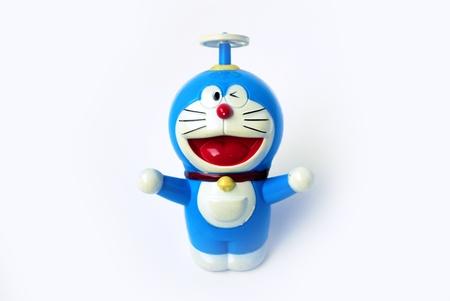 Doraemon op wit met clipping path