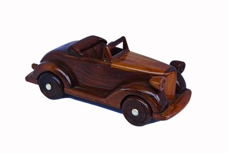 TOY WOODEN CAR Stock Photo - 13107746