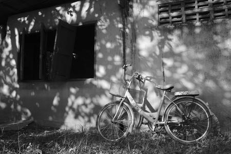 Verroeste Vintage Fiets oude fiets Stockfoto