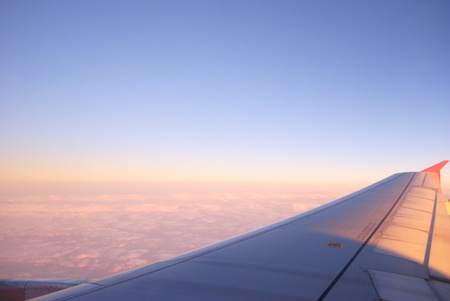 On view through a window Aircraft Stock Photo - 13343343