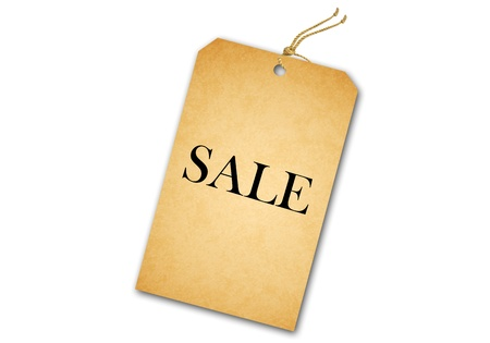 Sale Tag Isolated On White photo