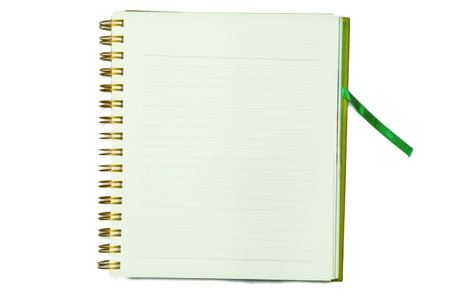 Green notebook bookmark photo