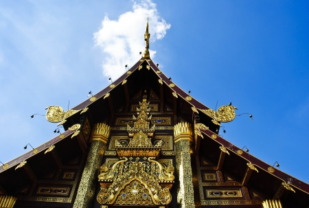 lamphun: White temple in Lamphun province, Northern Thailand