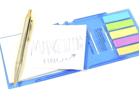 Business marketing strategy concept,  strategy on memo stick notes photo Stock Photo - 14233509