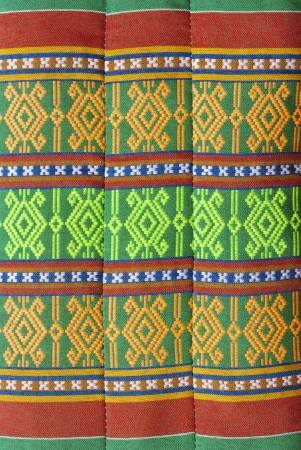 The art of Thailands textile on pillow photo