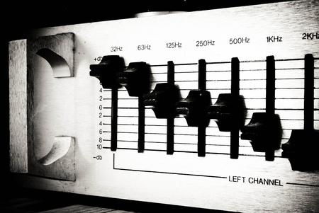 retro audio sound mixer