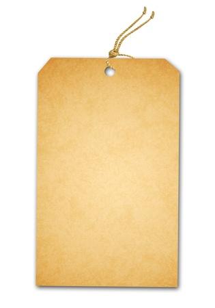 Verkoop Tag Geà ¯ soleerd Op Wit Stockfoto