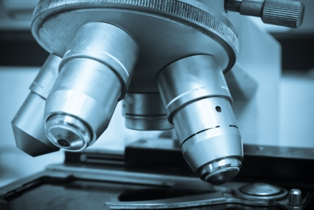 medical sample: laboratory Microscope Stock Photo