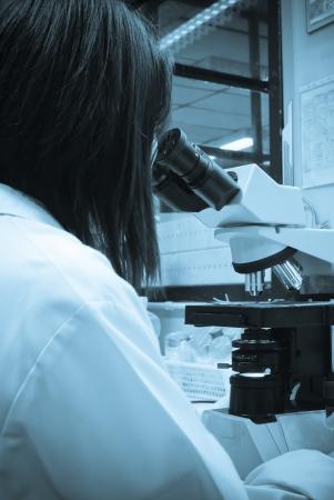 laboratorium Microscoop Stockfoto
