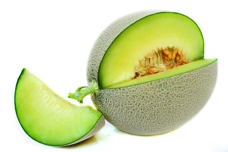 melon isolated on white background Stock Photo