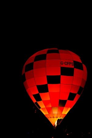 The balloon at night , Thailand