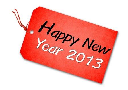 Happy new year 2013 tag Stock Photo - 16608739