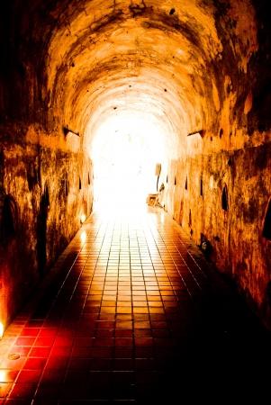 het einde van de tunnel Stockfoto