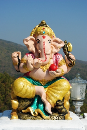 lord ganesha: Hindu God Ganesh Stock Photo