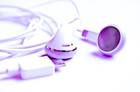 white Headphones, concept of digital music Stock Photo - 18986014